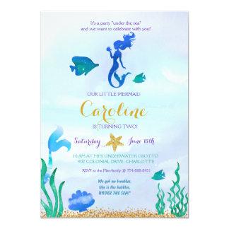 O convite da sereia sob o mar convida