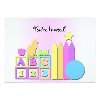 O convite das crianças prées-escolar da guarda