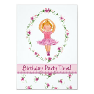 O convite de aniversário da bailarina caçoa flores