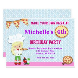 O convite de aniversário da pizza, pizza convida
