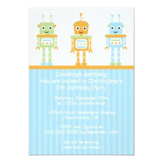 O convite de aniversário futurista do menino do
