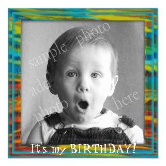 O convite de aniversário grande de Little Boy da
