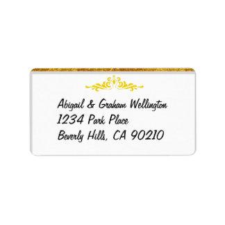 O convite de casamento ou agradece-lhe etiquetas etiqueta de endereço