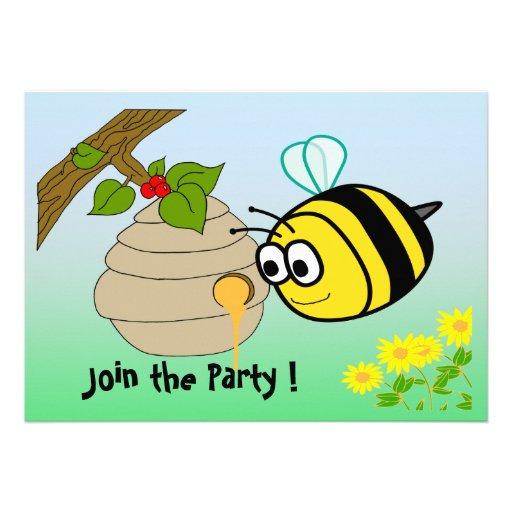 O convite de festas bonito do miúdo da abelha ocup