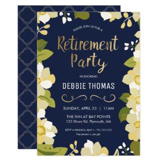 O convite de festas da aposentadoria, personaliza