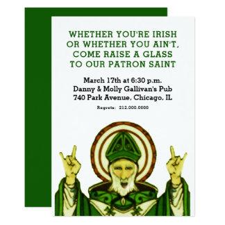 O convite de festas de St Patrick