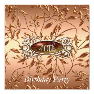 O convite de festas do aniversário de 40 anos sae