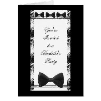 O convite de festas do solteiro do casamento