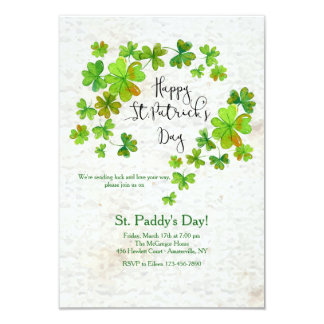 O convite de St Patrick da cascata do trevo