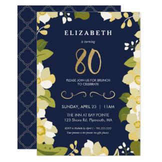 o convite do aniversário do 80, octogésimo