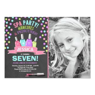 O convite do aniversário dos termas Manicures o