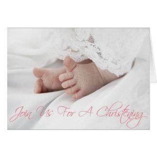 O convite do batismo para o bebé enrola para baixo cartão comemorativo