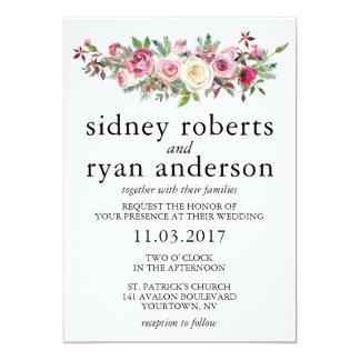 O convite do casamento do ROSA do ROSA cora buquê
