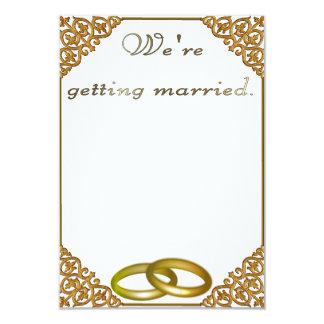 O convite do casamento dourou o quadro