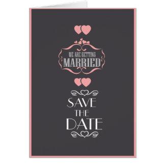 O convite do casamento, salvar o cartão de data