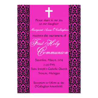 ø Convite do comunhão - meninas Convite 12.7 X 17.78cm