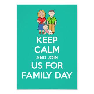 O convite do dia da família com os pais &baby