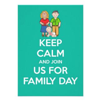 O convite do dia da família com os pais baby mant