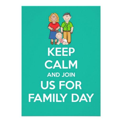 O convite do dia da família com os pais &baby mant
