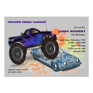 O convite do monster truck do triturador