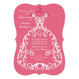 O convite do vestido de partido
