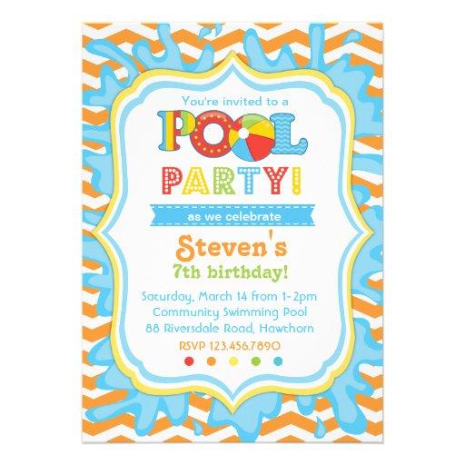 O convite/festa na piscina da festa na piscina con