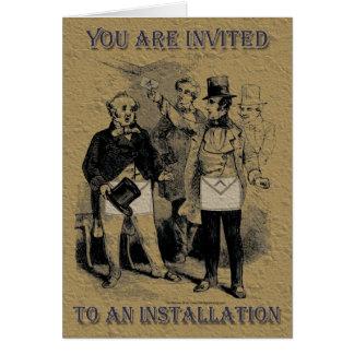 O convite maçónico da instalação