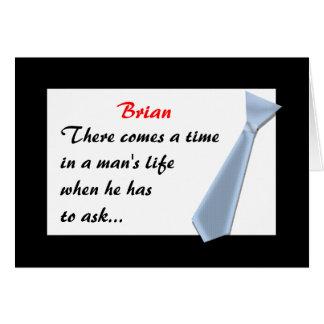 O Convite-Melhor homem, etc. Cartão Comemorativo