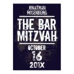 O convite todo de Mitzvah do bar do grupo de rock