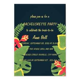 O convite tropical da festa de solteira do jardim convite 12.7 x 17.78cm