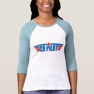 O copiloto voa o crachá - aviação camiseta