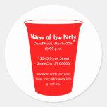 o copo do partido convida adesivo