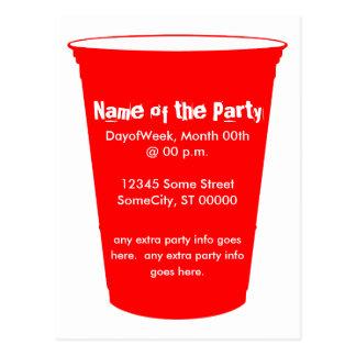 o copo do partido convida cartão postal