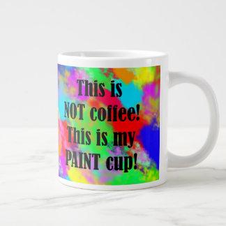 O copo do pintor caneca de café grande