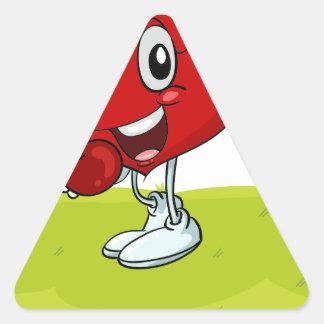 o coração adesivo triangular