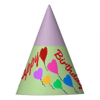 O coração Balloons chapéus do aniversário