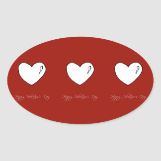O coração bonito dos namorados adesivo oval