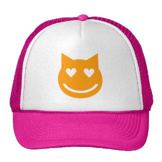 O coração dado forma Eyes o gato de Emoji Boné