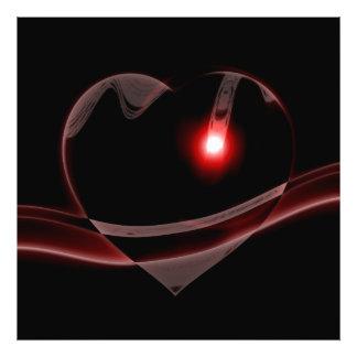 O coração de vidro de Borgonha reflete a luz Impressão De Foto