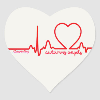 O coração do apoio dos anjos do outono emite a adesivo coração
