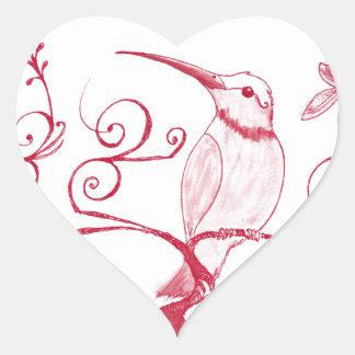O coração do colibri adesivo coração