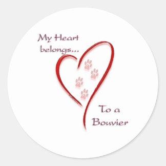 O coração do DES Flandres de Bouvier pertence Adesivo