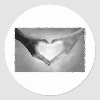 O coração entrega a foto de B&W Adesivo