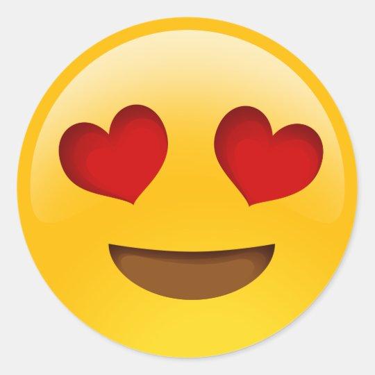 Armario Garaje Plastico ~ o coraç u00e3o eyes etiquetas do emoji adesivo Zazzle