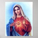 O coração imaculado do poster de Mary