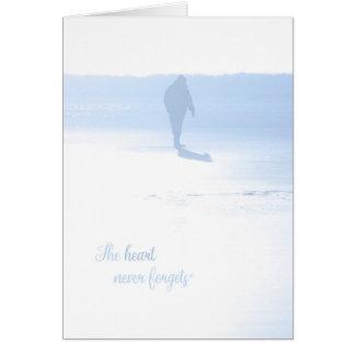 O coração nunca esquece o cartão de simpatia
