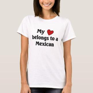 O coração pertence a um mexicano camiseta