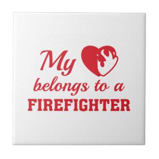 O coração pertence sapador-bombeiro