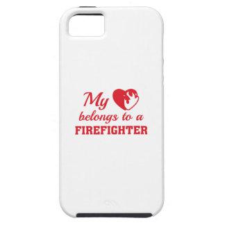 O coração pertence sapador-bombeiro capas para iPhone 5