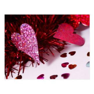 O coração polvilha cartão postal